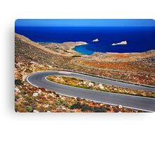 The road to Xerokambos - Crete Canvas Print