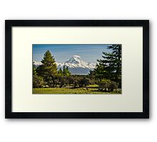 Pointing Peak Framed Print
