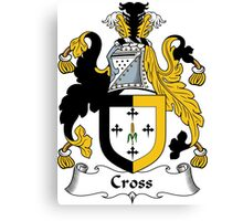 Cross Coat of Arms / Cross Family Crest Canvas Print