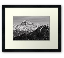 Monochrome Mountain Peaks  Framed Print