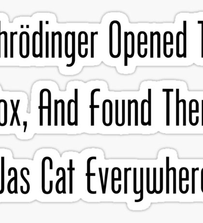 Schrodinger Opened The Box, And Found Cat Eveywhere! Sticker