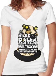 Hard Dalek Cold Dalek New Design Women's Fitted V-Neck T-Shirt
