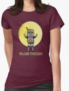 Praise the Sun Solaire Chibi Womens Fitted T-Shirt