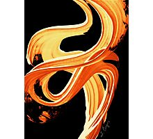 Fire Water 207 By Sharon Cummings - Orange And Yellow Abstract Art Painting Photographic Print