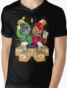 Super Punk Bros Mens V-Neck T-Shirt