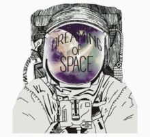 astronot dreaming of space One Piece - Short Sleeve
