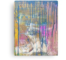 Blue Pink Yellow abstract Canvas Print