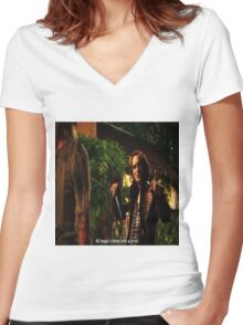 Rumplestiltskin All Magic Comes With A Price Women's Fitted V-Neck T-Shirt