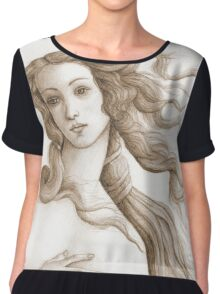 The face of a goddess in sepia Chiffon Top
