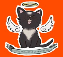Kittens are Angels with whiskers Kids Tee
