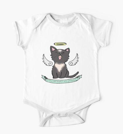 Kittens are Angels with whiskers One Piece - Short Sleeve