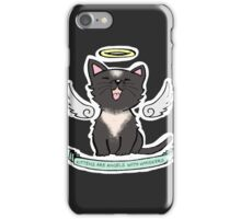 Kittens are Angels with whiskers iPhone Case/Skin