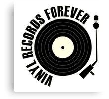 vinyl record black Canvas Print