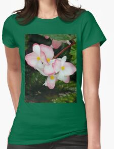 Pink Begonia Womens Fitted T-Shirt