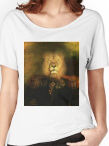 Military Lion  Women's Relaxed Fit T-Shirt