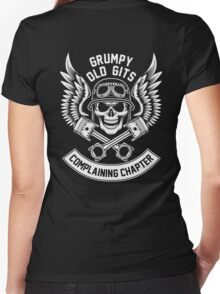 Grumpy Old Gits Complaining Chapter Women's Fitted V-Neck T-Shirt