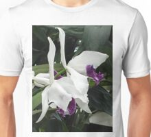 White and Purple Unisex T-Shirt