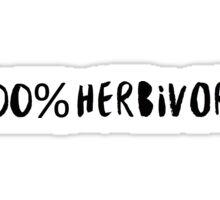 100% Herbivore Sticker