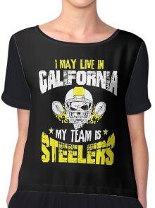 Football Fan Gift   Steelers Chiffon Top