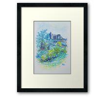 Halton Castle From St. Mary's Church Framed Print