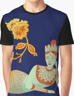 Flower Devi Green Goddess Graphic T-Shirt