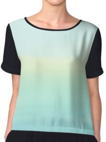 Serene Sea Chiffon Top