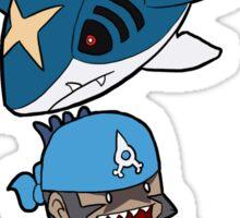 Running with Scissors - Aqua ver. Sticker