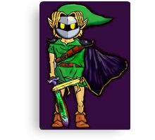 The Legend Of Zelda Meta Knight's Mask. Link's too powerful! Canvas Print