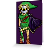 The Legend Of Zelda Meta Knight's Mask. Link's too powerful! Greeting Card