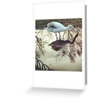 Swan Puddle Greeting Card