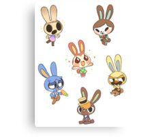 Animal Crossing - Bunny Set 1 Canvas Print
