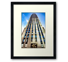 Rockefeller Center 30 Rock  Framed Print