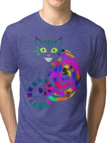 We're all mad here - Cheshire cat Tri-blend T-Shirt