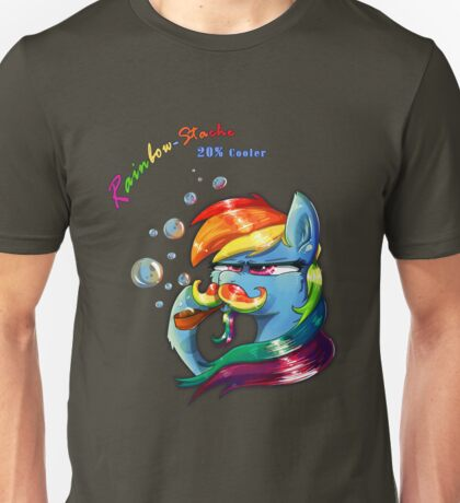 Rainbow - Stache 20% Cooler Unisex T-Shirt