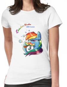Rainbow - Stache 20% Cooler Womens Fitted T-Shirt