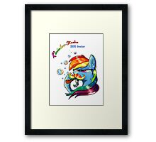 Rainbow - Stache 20% Cooler Framed Print
