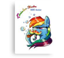 Rainbow - Stache 20% Cooler Canvas Print