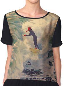 Riding the Sea by Lena Owens Chiffon Top