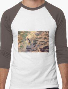 Riding the Sea by Lena Owens Men's Baseball ¾ T-Shirt