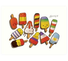 WORLD CUP 2014 LOLLIES Art Print