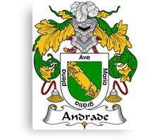 Andrade Coat of Arms/ Andrade Family Crest Canvas Print