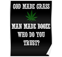 God made grass man made booze Poster
