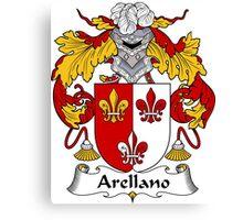 Arellano Coat of Arms/ Arellano Family Crest Canvas Print