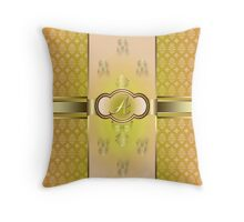 Monogrammed A Flemish Throw Pillow