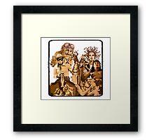 Anfractuous Apoptosis - Sepia Framed Print