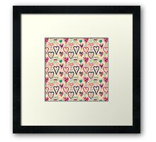 Girly Heart Doodle  Framed Print