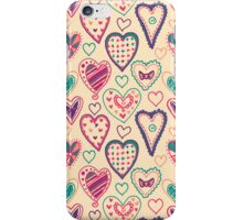 Girly Heart Doodle  iPhone Case/Skin