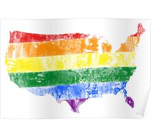USA Pride Flag Poster