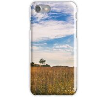 lonely tree in the italian countryside iPhone Case/Skin