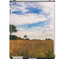 lonely tree in the italian countryside iPad Case/Skin